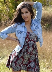 Bella Poses In The Field - Picture 1