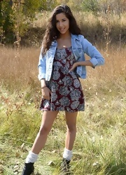 Bella Poses In The Field - Picture 2