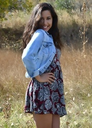 Bella Poses In The Field - Picture 4